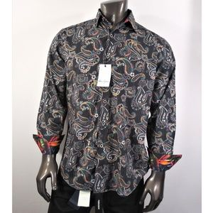 Robert Graham Black Based multi color Paisley